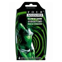 Four Seasons Glow Vibrating Condoms (4pk)