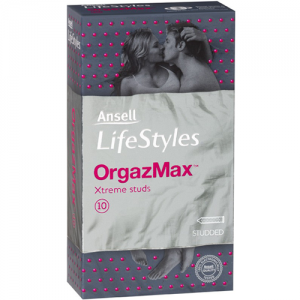 Ansell Lifestyles O-max (Orgazmax) Condoms – 10 pack