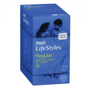 Ansell Lifestyles Regular Condoms – 40 pack